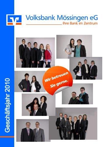 Bei uns stehen Sie im Mittelpunkt - Volksbank Mössingen eG