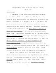 1 Bibliographic Essay on African American History Wilma King ...