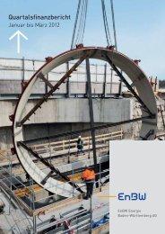 EnBW-Quartalsfinanzbericht Januar bis März 2012