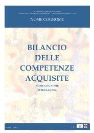 BILANCIO DELLE COMPETENZE ACQUISITE - enaip
