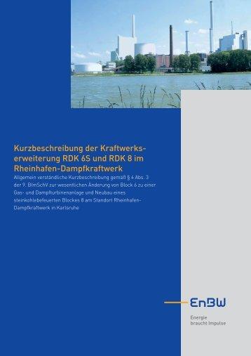 Kurzbeschreibung der Kraftwerks- erweiterung RDK 6S und ... - EnBW