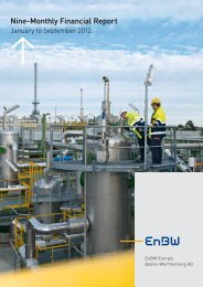 Quarterly Financial Report January to September - EnBW