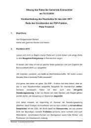 Haushaltsrede der FDP-Fraktion - Everswinkel