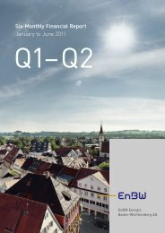 Six-Monthly Financial Report January to June 2011 - EnBW