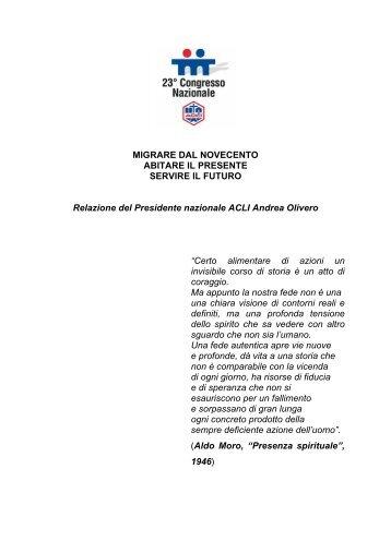 relazione del Presidente Andrea Olivero - enaip