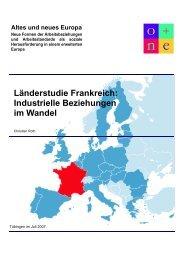 Länderstudie Frankreich: Industrielle Beziehungen im Wandel - enaip