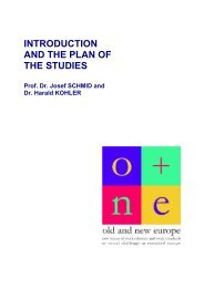 o+ne - Introduction and the plan of the studies - enaip