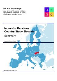 Industrial Relations: Country Studie Slovakia - Summary - enaip
