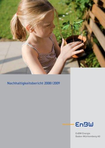 Nachhaltigkeitsbericht 2008 I 2009 - EnBW