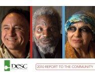 2010 RepoRt to the Community - DESC