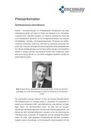 Presseinformation - Encoway GmbH & Co KG