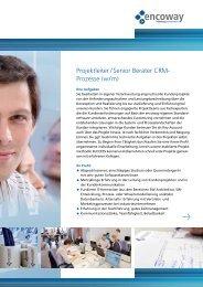 Download: Flyer Projektleiter - Encoway GmbH & Co KG