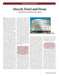 Abszeß, Fistel und Fissur - Enddarm-Zentrum Mannheim