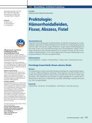 Hämorrhoidalleiden, Fissur, Abszess, Fistel - Enddarm-Zentrum ...