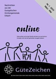 Nr. 1 März–Mai 2010 - Evangelische Kirchengemeinde Erbach/Odw.