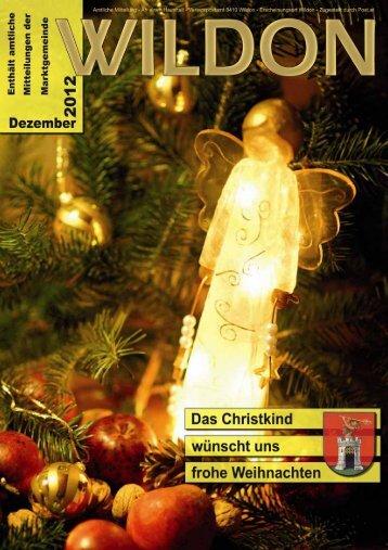 Hier können Sie die Gemeindezeitung von Dezember 2012 - Wildon