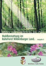 Waldbestattung im RuheForst Wildenburger Land ... - Grunow Praxis