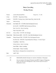 Huron Consulting Meeting Minutes - Montgomery County Planning ...