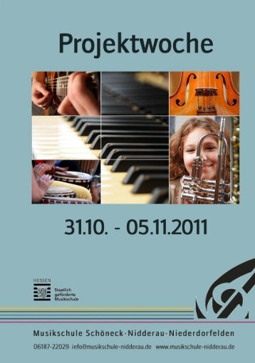 Projektwoche 1 Titel - Musikschule Schöneck/Nidderau
