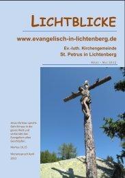 Gottesdienste und andere Treffpunkte 21 - St. Petrus in SZ ...