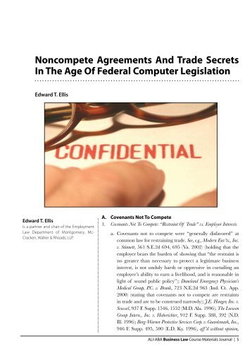 Noncompete Agreements And Trade Secrets In The Age Of Federal ...