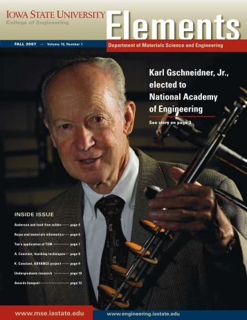 Fall 2007 - Materials Science and Engineering - Iowa State University