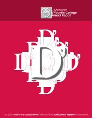 D'Mensions D'Youville College Annual Report