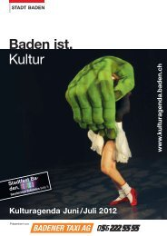 Kulturagenda Juni / Juli 2012 - Veranstaltungen - Baden