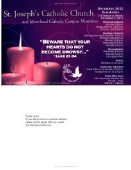 Bulletin for this weekend - Catholic Web