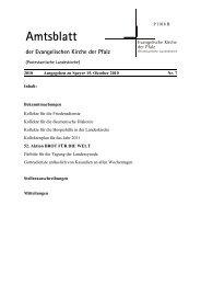 Amtsblatt - Evangelische Kirche der Pfalz