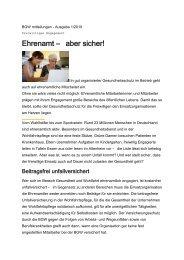 BGW mitteilungen - Ausgabe 1/2010 - Evangelische Kirche der Pfalz