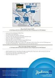 Directions - Radisson Blu