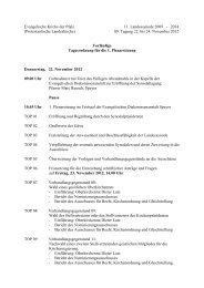 Tagesordnung 22. November 2012 (PDF, 14 KB) - Evangelische ...