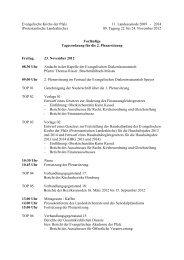 Tagesordnung 23. November 2012 (PDF, 12 KB) - Evangelische ...