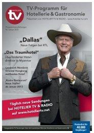 HOTEL TV PROGRAMM - Januar 2013 - Kochwelt