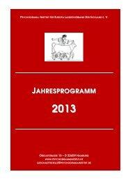 PIfE Landesverband Deutschland - Gesamtprogramm 2013