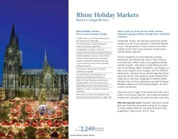 2249 Rhine Holiday Markets - Uniworld River Cruises