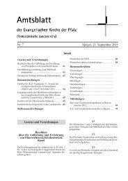 Nr. 7 Speyer, 21. September 2011 - Evangelische Kirche der Pfalz