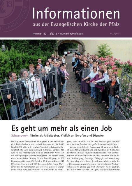 Es geht um mehr als einen Job  - Evangelische Kirche der Pfalz