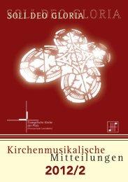 Kirchenmusikalische Mitteilungen - Evangelische Kirche der Pfalz