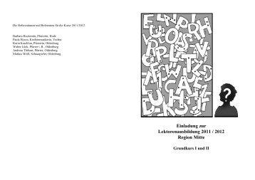 Ausbildungsprogramm für Lektoren 2011 / 2012 - Evangelische ...