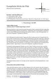 Beraten und beschlossen - Evangelische Kirche der Pfalz