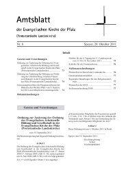 Nr. 8 Speyer, 20. Oktober 2011 - Evangelische Kirche der Pfalz