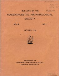 Bulletin of the Massachusetts Archaeological Society, Vol. 3, No. 1 ...