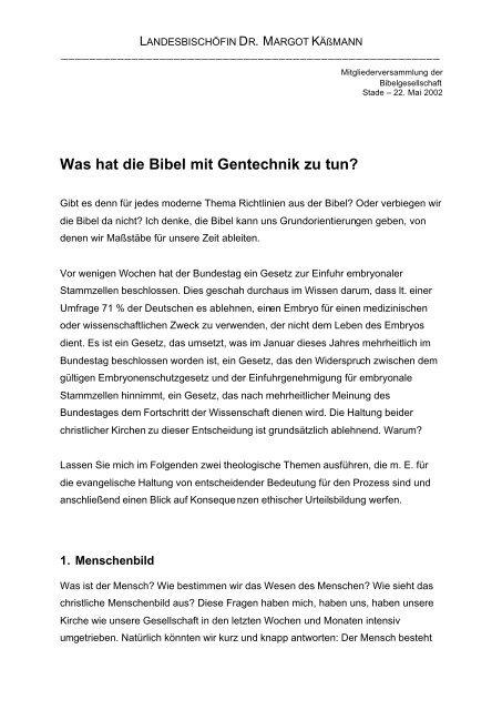 Was hat die Bibel mit Gentechnik zu tun?