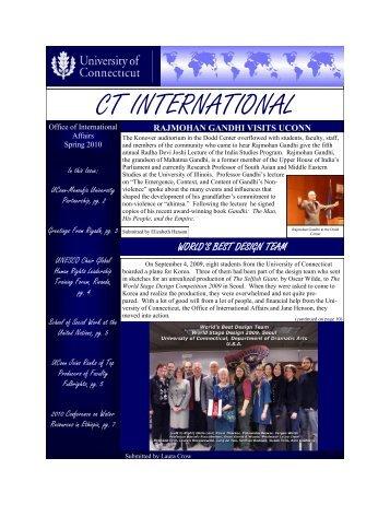 CT INTERNATIONAL - Office of International Affairs - University of ...