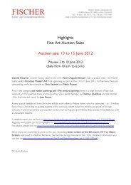 Highlights Fine Art Auction Sales Auction sale - Galerie Fischer ...