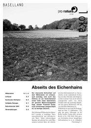 Abseits des Eichenhains - Pro Natura Baselland