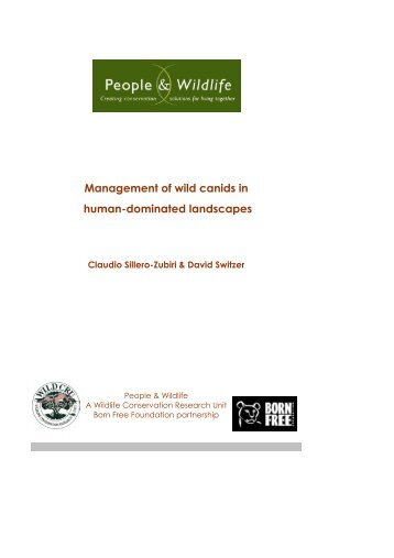 Management of wild canids in human-dominated ... - People & Wildlife