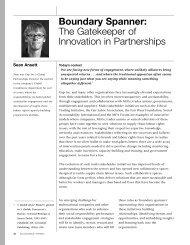 Boundary Spanner: The Gatekeeper of Innovation in Partnerships